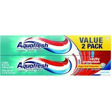 Aquafresh Cavity Protection Fluoride Toothpaste, Cool Mint, 5.6 ounce 2 pk