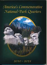 America's Commemorative National Park Quarters Folder 2010-2021 (Edcfnp) Book