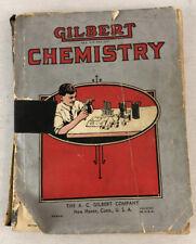 1936 Vintage Original A. C. Gilbert Chemistry Book for Boys