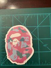 Bathing Ape Pink Camo Skate Skateboard Sticker Laptop Cell Phone Decal A