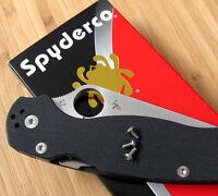 Spyderco Paramilitary Para 3 PM3 3 Piece Titanium Pocket Clip Torx Screw Set