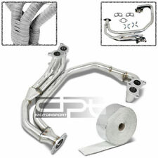 FOR WRX//GTI GDB TURBO 1 PC STAINLESS HEADER+ALUMINUM EXHAUST MANIFOLD HEAT WRAP