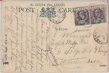 51972 -  ST LUCIA -  POSTAL HISTORY - POSTCARD to GERMANY 1907