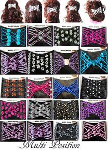 Trend African Hairclip Combs Haarspange Haarkammer Haarkamm  Glas 47 Modelle