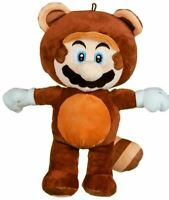 "OFFICIAL SUPER MARIO IN TANOOKI COSTUME 14"" SOFT PLUSH TOY TEDDY NEW WITH TAGS"