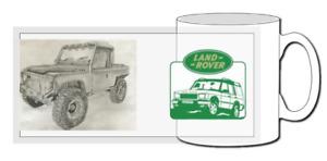 Land rover defender mug, 110, 90, series 1, series 2, 4x4, offroad, rangerover,