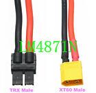 TRX to XT60 12AWG 5CM Wire for Traxxas RC Zippy Revo Slash LiPo TRA2970 TRA2972