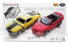 Ford Mustangs 1970 & 1999 Testors 4090 1/24 Two New Car Model Kits