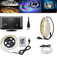5V Waterproof USB RGB LED Strip 1M 2M 3M Light TV Back Lights Bar Lighting SS501