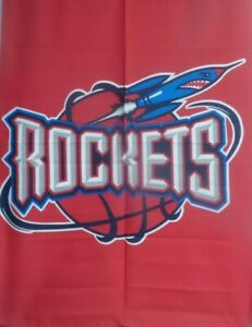 "Wholesale Lot: -10 NBA Houston Rockets 29"" x41"" Large Flags $5 Each"