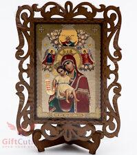Wooden Icon of Mother of God Virgin Mary Axion Estin Икона Б.М. Достойно есть