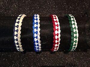 Girls School Colour Military Braid Head Bands