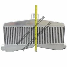"Kgmotors Universal 2in 1out TWin Turbo Intercooler 24""x7""x3.5"" Core Size"