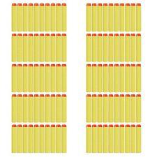 Lot 100 Refill Foam Darts Nerf N-Strike Elite Blaster Toy Gun Yellow 7.2cm JQ PL