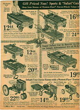 1966 PAPER AD Toy Pedal Car Safari Western Flyer Sports Mustang Tractor Sonda
