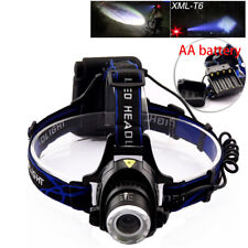 AA Battery head Headlamp flashlight led T6 Torch Outdoor For Hunting Powerful