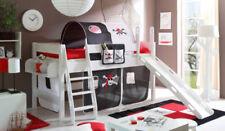 Schwarze Kinder-Bettgestelle ohne Matratze mit Piraten 200 cm