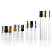 Refillable 3ml 5ml 10ml Clear Glass Perfume Pump Spray Bottles Scent with Scale