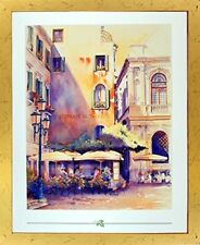 Italian Theatre Vintage Wall Decor Picture Framed Art Print (18x22)