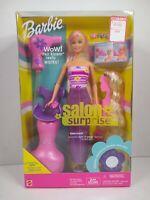 2001 Salon Surprise Barbie Blow dryer and chair Turn & Wrap Fashion NRFB 54215