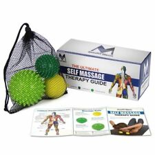 Exercise Balls Set-Lacrosse Massage Ball and Spiky Ball -Perfect for Trigger