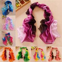 New Fashion Girl's Women's Long Soft Wrap Ladies Shawl Silk Chiffon Scarf PW048