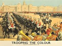 ART PRINT POSTER TRAVEL BRITAIN ENGLAND TROOPING COLOUR NOFL1092