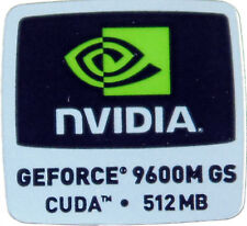 NVIDIA GEFORCE 9600M GS CUDA 512MB STICKER LOGO AUFKLEBER 18x18mm (427)