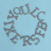 Lettre alphabet anglais strass A-Z brodé de fer sur des vêtements de patch