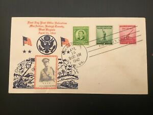 ICOLLECTZONE   US  #899, 900 Crosby First Day Cover FDC MacArther (D100)