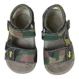 Boy's See Kai Run Jetty lll Water Friendly Sandal Camo Sz 6 Padded Comfort Shoes