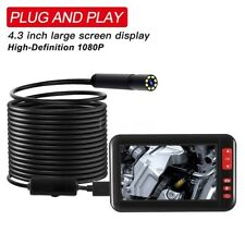"10M Endoscope Borescope Inspection Camera Built-in 8pcs LEDs, 4.3"" 1080P Screen"