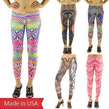 Sexy Boho Color Tribal Aztec Ethnic Print Sport Yoga Stretchy Leggings Pants USA