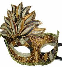 Venetian Mask Cascade Earth Tones Harlequin Halloween Mardi Gras Masquerade