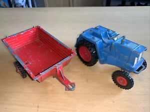 Triang Tri-ang Tugster Type 37A Tractor + Trailer Vintage Metal Toy Model
