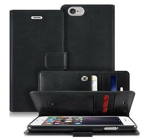 Double Flip book Leather Wallet Case Cover for iPhone 11 Pro / Galaxy Note10 S9