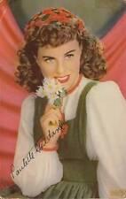 Vintage POSTCARD c1944 Actress Paulette Goddard Signed 17518