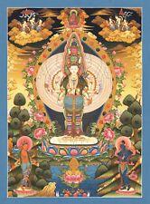 "Chenresig Thangka ""mejor impresiones"" Avalokiteshvara tíbet pintura nepal Buda t01"