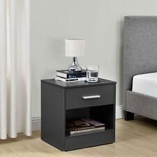 [en.casa]® Nachttisch mit Schublade Grau Nachtkommode Beistelltisch Ablage
