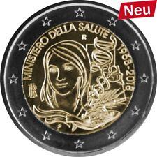 2 Euro-Gedenkmünze Italien 2018 Gesundheitsministerium UNC bfr Münze