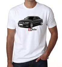 Audi S8 Series Mens Kids T shirt Black Beauty Fast Car White DT