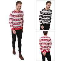 Threadbare Mens Santa Stripe Christmas Jumper Novelty Father Christmas Knit Top