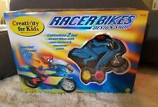 Child's Motorcycle Design & Paint Model Kit 2 Moving Cycles Paint & Stickers