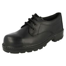 MENS TOTECTORS BLACK LACE UP LEATHER STEEL TOE CAP WORK SAFETY SHOES 3038