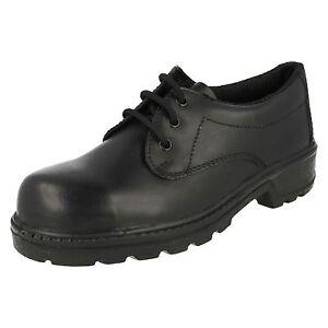 Hommes Totectors Noir Lacet Cuir Embout Coqué Travail Sécurité Chaussures 3038