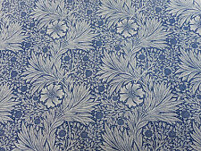 "William MORRIS Curtain Fabric ""Calendula"" 1,6 metri (160 CM) Indaco / Biancheria"