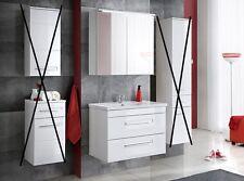 """Badmöbel Set """"ACTIVE 80 cm Weiss"""" Waschtisch Spiegelschrank LED"""