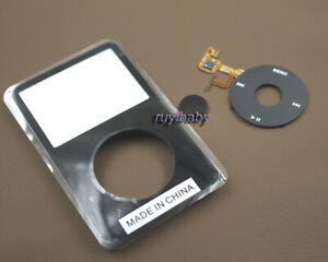 Black Faceplate Housing Case Clickwheel Button for iPod 5th Video 30gb 60GB 80gb
