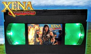 Xena Warrior Princess - Retro VHS Lamp +Remote Control - 90s Action Movie