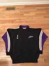 Karl Malone Utah Jazz NBA Vintage Champion Game Used Warm Up Jacket Size 50